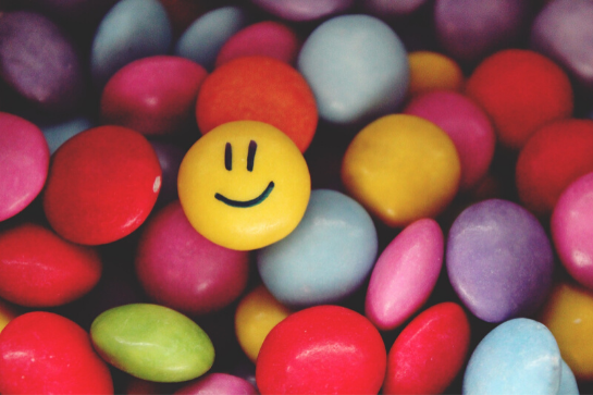 smarties met 1 smiley